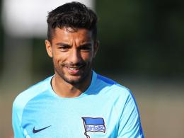 Hat Herthas Ligastart in Augsburg im Blick: Angreifer Sami Allagui.