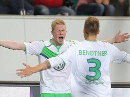 Kevin De Bruyne und Niklas Bendtner