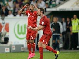 Auf dem Weg zur Titelverteidigung? Arturo Vidal und Xabi Alonso (re.) wollen den Audi-Cup gewinnen.