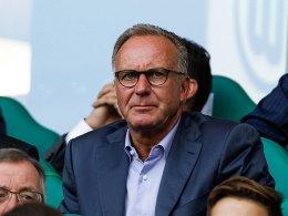 Er verkündete die Verlängerung des Vertrags mit Audi: Karl-Heinz Rummenigge.