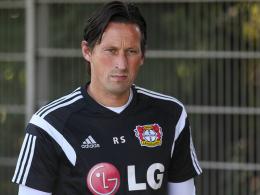 Die Abwehr macht Sorgen: Leverkusens Trainer Roger Schmidt.
