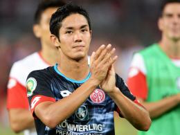 """""""Zufrieden bin ich nicht mit mir"""": Yoshinori Muto zeigt sich sehr ehrgeizig nach seinem Pflichtspieldebüt für Mainz 05."""