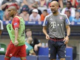 Neuzugang Douglas Costa wurde von Bayern-Coach Pep Guardiola gelobt.