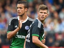 "Was kann Schalkes neuer ""Supersturm""? Franco di Santo (li.) und Klaas Jan Huntelaar greifen in Bremen an."