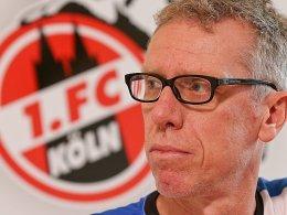 """""""Wir haben unsere Infos zum VfB zusammengetragen"""": FC-Coach Peter Stöger wähnt sich gut vorbereitet."""
