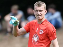 Steht vor seinem Debüt für die Eintracht: Frankfurts neuer Torhüter Lukas Hradecky.