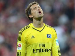 Frust: Nach guter Anfangsphase haben René Adler und der HSV wieder deutlich in München verloren.