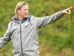 """""""Bälle, die auch flach gehen, will ich nicht hoch sehen"""": Hoffenheims Trainer Markus Gisdol."""