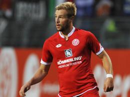 Zwangspause: Der Mainzer Flügelstürmer Maximilian Beister hat sich ein Knochenmarködem im Knie zugezogen.
