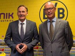Keine Alternative zum Kerngeschäft: BVB-Geschäftsführer Hans-Joachim Watzke und Finanz-Geschäftsführer Thomas Treß (re.).