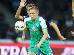 Entwischte seinen Bewachern nur selten: Bremens neuer Angreifer Aron Johannsson.