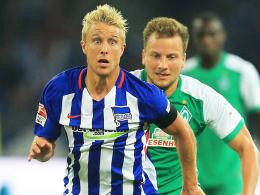 Leistenprobleme: Herthas Mittelfeldspieler Per Skjelbred soll erst am Donnerstag wieder ins Teamtraining einsteigen.
