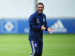 Entspannte Woche: Hamburgs Coach Bruno Labbadia.