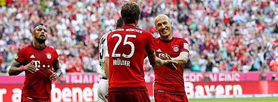 Arturo Vidal, Thomas Müller, Arjen Robben