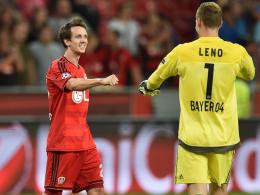 Robbie Kruse & Bernd Leno
