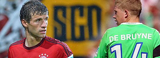 Beide sorgten in der Sommer-Transferperiode f�r Schlagzeilen: Thomas M�ller und Kevin De Bruyne (re.).