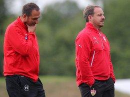 FCH-Coach Frank Schmidt und VfB Trainer Alexander Zorniger