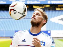 Steht vor seinem Punktspiel-Debüt für den HSV: Hamburgs Neuzugang Aaron Hunt.