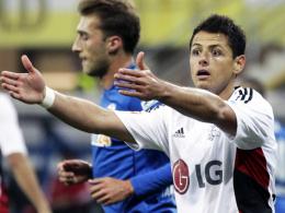 Einsatz gegen Darmstadt offen: Leverkusens Neuzugang Javier Hernandez, genannt Chicharito.