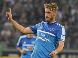 Taktgeber: Aaron Hunt verlieh dem Spiel des HSV in Gladbach Struktur.