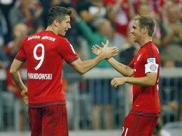 Robert Lewandowski und Philipp Lahm