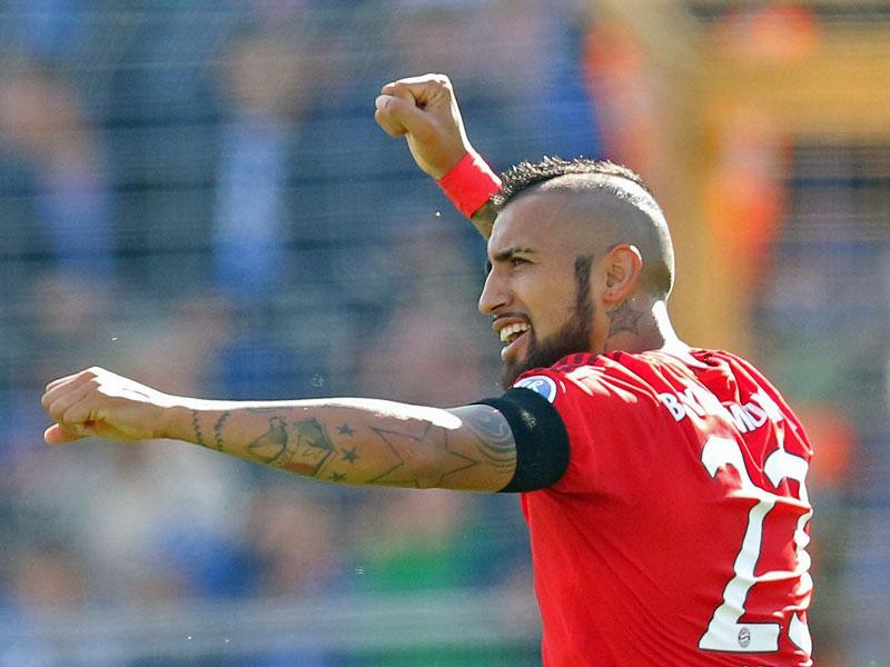 Premieren-Tor: Vidal brachte die Münchner in Darmstadt in Front.