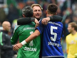Ramazan Özcan, Ralph Hasenhüttl und Florian Hübner