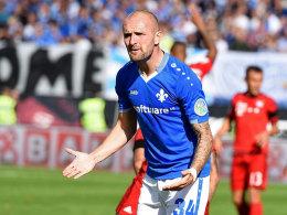 Hätte gegen die Bayern gerne wieder etwas mitgenommen: Darmstadts Konstantin Rausch.