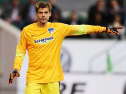 Steht gegen Köln zwischen den Berliner Pfosten: Hertha-Ersatztorhüter Rune Jarstein.