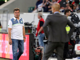 Dieter Hecking (l.) mit Pep Guardiola