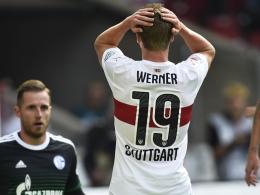 Vergebene Großchancen, dennoch ein Gewinner: Stuttgarts Timo Werner.