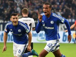 Hat einen Lauf: Schalkes Innenverteidiger Joel Matip erzielte das 1:0 gegen Frankfurt. Links Sead Kolasinac.