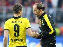 """""""Für ihn hat es mir leid getan, dass wir nur dreimal wechseln durften"""", sagt BVB Coach Thomas Tuchel über Adnan Januzaj."""