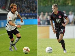 Wer ersetzt Haris Seferovic in der Eintracht-Offensive? Stefan Aigner (li.) oder Luca Waldschmidt.