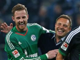 Haben derzeit gut Lachen: Schalkes Torhüter Ralf Fährmann und Trainer André Breitenreiter.