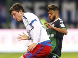 Matchwinner in Ingolstadt, Rückschlag gegen Schalke: Hamburgs Michael Gregoritsch (li.).