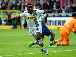 Feierte seinen Treffer gewohnt ausgelassen: Gladbachs Ibrahima Traoré.