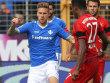 Der einzige Startelfeinsatz bisher: Tobias Kempe gegen den FC Bayern.