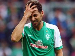 Es läuft nicht rund im Angriff von Werder: Das gilt auch für Claudio Pizarro.