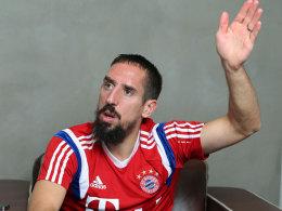 Bayern Münchens Außenbahnspieler Franck Ribery.
