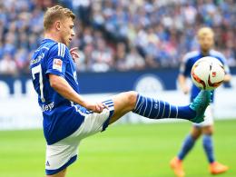 """""""Perfekter Abend"""": Schalkes Max Meyer posaunte seinen Stolz nach dem Sieg mit der U 21 sogleich heraus."""
