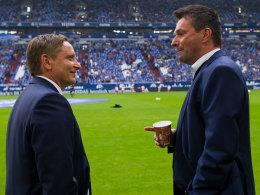 Horst Heldt und Christian Heidel