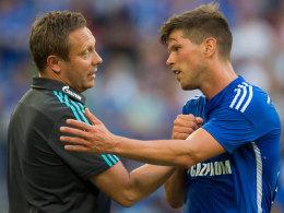 Wackelkandidat: Ob Schalke-Coach André Breitenreiter auf Klaas Jan Huntelaar zurückgreifen kann, steht in den Sternen.