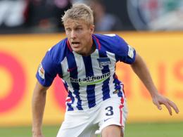"""""""Per ist angeschlagen, wir müssen das Abschlusstraining abwarten"""": Hertha-Coach Pal Dardai bangt noch um Skjelbred."""