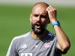 Muss auf acht Profis verzichten: Bayern Münchens Chefcoach Pep Guardiola.