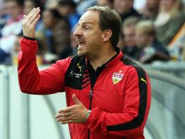 """""""Es muss auch mal erlaubt sein, Emotionen auszuleben"""": Stuttgarts Trainer Alexander Zorniger."""