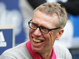 """""""Wir geben das nicht kampflos auf"""": Kölns Trainer Peter Stöger vor der Partie in München."""