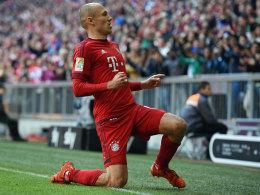 Wieder zurück und gleich treffsicher: Bayerns Offensivdribbler Arjen Robben.