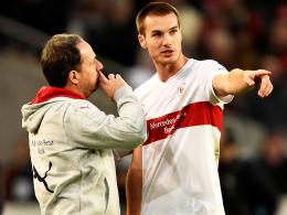 Rückendeckung: Stuttgarts Trainer Alexander Zorniger bricht eine Lanze für Abwehrspieler Toni Sunjic.
