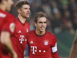 Philipp Lahm mit Thomas Müller
